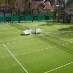 Artificial grass for tennis of 20 mm production