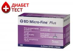 """Иглы инсулиновые """"Микрофайн"""" 5 мм. (100 шт.)"""