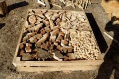 Firewood chipped 200 kg in boxes