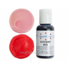 Краситель гелевый AmeriColor Holiday Red 21 г