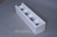 Block wall face, zamokrazmer of 1000*250*250 mm