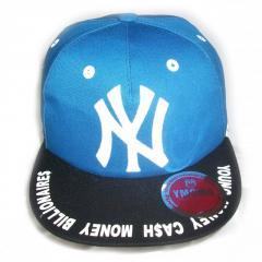 Кепка рэперская с прямым козырьком New York синяя