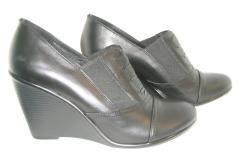 Туфли на танкетке из натуральной кожи, комфорт.
