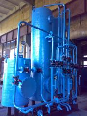 Installation of chemical water treatment of HVP