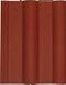Черепица двойная римская красная