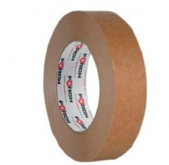 The masking adhesive tape from thin crêpe of