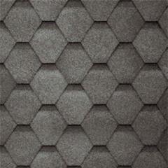 Битумная черепица Aquaizol серия мозаика серая