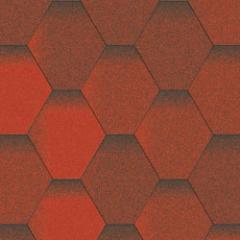Битумная черепица Aquaizol серия мозаика красная