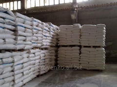 Wheat in bags