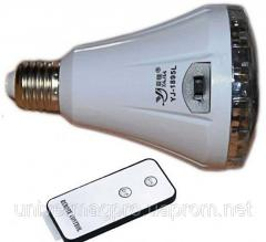 The LED lamp with the accumulator and the