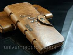 Man's leather purse + Gift Knife credit card.