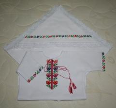 """Baptismal set """"Borschevsky Flowers"""