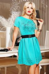 The fitted dress with perforation