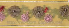 Тесьма органза с цветами 2685