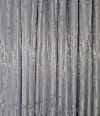 Портьерная ткань Мрамор серый 011317