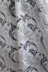 Портьерная ткань Серая 051401