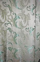 Портьерная ткань Серо-зеленая 081332