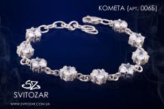Женский браслет из серебра с камнями