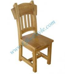 Bar chair - an oak