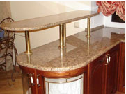 Bar counters from granite.