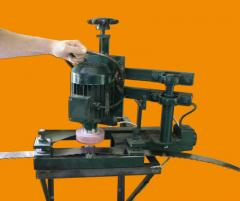 The machine for cleaning of welded seams from the