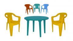 Мебель пластиковая: стулья пластиковые, стол