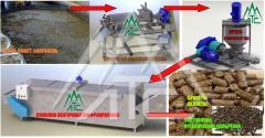 Equipment for manure briquetting