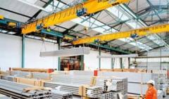 Frame bridge crane or crane beam