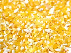 Polished corn grits