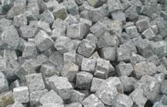 Stone blocks granite, basal