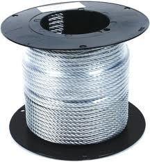 Трос для растяжки в оплетке ПВХ D=3 мм, DIN3055