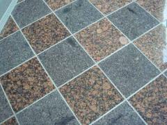 Granite tile in wide assortment.