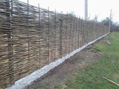 Wattle fence, Decorative fence from the Hazel