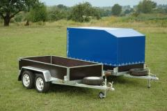 Trailers onboard under an awning without brakes
