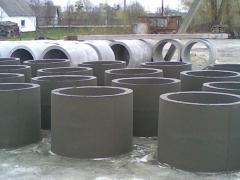 Бетонні кільця діаметром 1,0 м