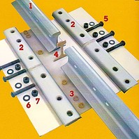 The pads isolating rail R-65, R-50. Joint the