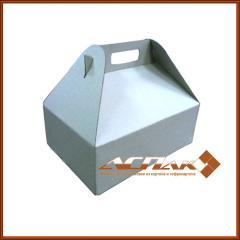 Box gift with handles 310х220х110, brown,