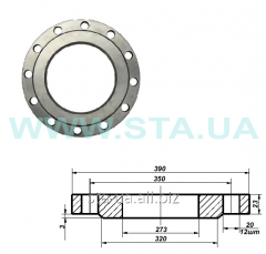 Flange steel flat Du 25-500th GOST12820-80