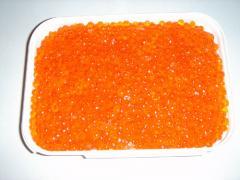 Caviar of salmons