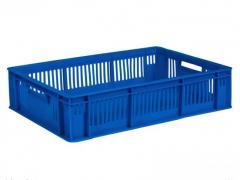 Food plastic boxes for fish 600х400