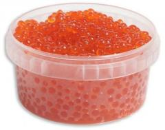 Caviar of silver salmon