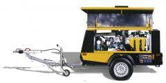 Передвижные компрессоры KAESER с дизельным двигателем серии MOBILAIR M 36 – M 350, с системой подготовки сжатого воздуха и генератором