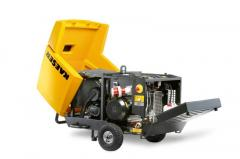 The mobile KAESER compressors with an electric