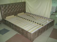 Bed CUPID on lamels, a double bed photo, the bed