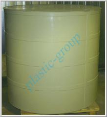 Barrels, tanks from polypropylene