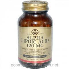 Alpha lipoic acid, Solgar, 120 mg, 60 capsules