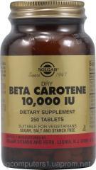 Beta carotene, Solgar, 10000 ME, 250 tablets