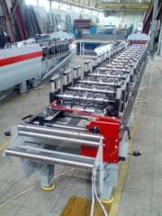 Equipment for production of a metal siding...
