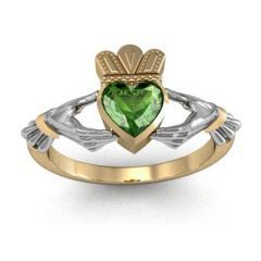 Kladdakhsky ring with an emerald