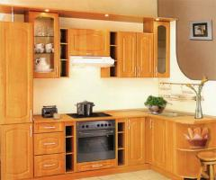 Угловая кухня с фасадами мдф + пленка пвх